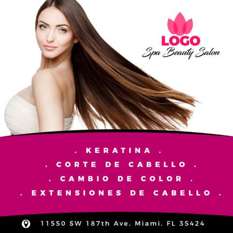 PSD Flyer Post Cuadrado para Redes Sociales Spa y Salon de Belleza