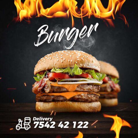 Flyer Comida Burger Hamburguesa