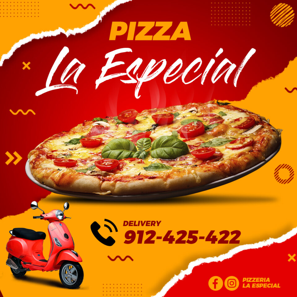 Flyer Comida Pizza PSD Editable