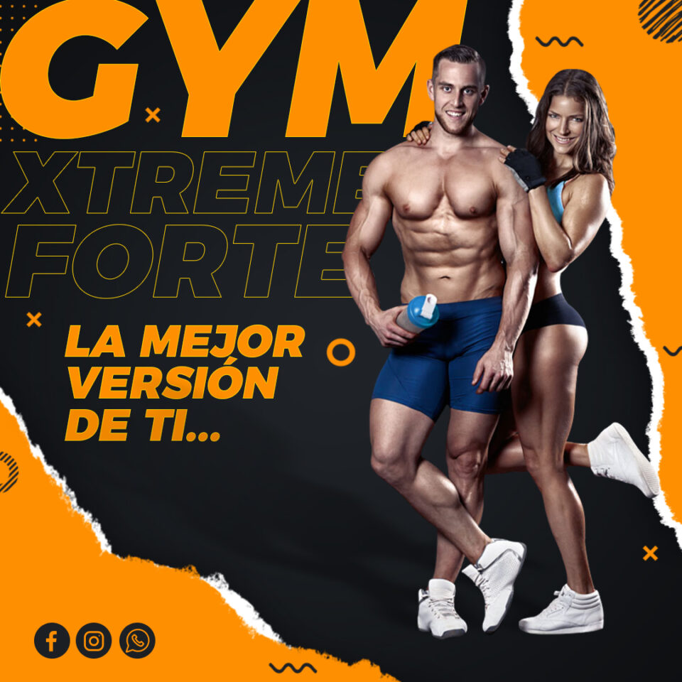 Flyer GYM, Fitness PSD 100% Editable Redes Sociales