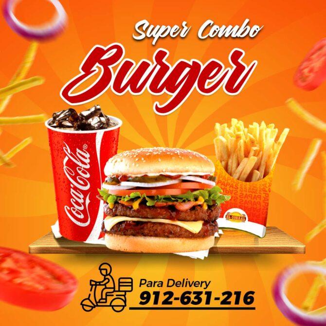 Flyer Comida Hamburguesas PSD Burger